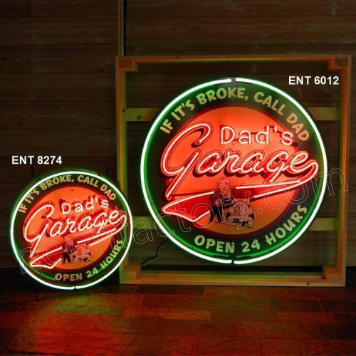 ENT 6012 Dads garage neon sign automotive neonfactory motorcycle neon designs logo fifties