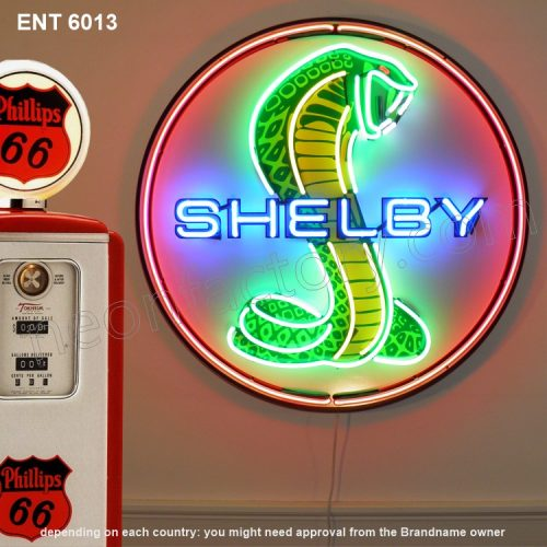 ENT 6013 Shelby Cobra neon sign automotive neonfactory motorcycle neon designs logo fifties