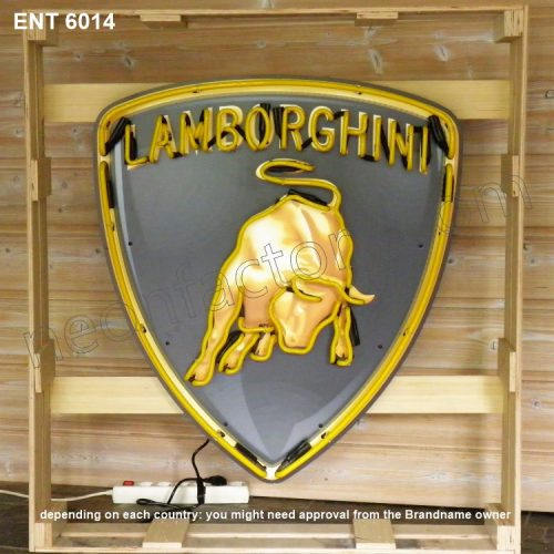 ENT 6014 Lamborghini neon sign automotive neonfactory motorcycle neon designs logo fifties