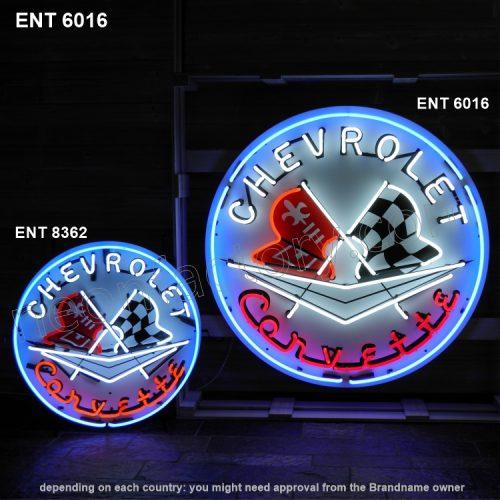 ENT 6016 Corvette neon sign automotive neonfactory neon designs logo fifties pair