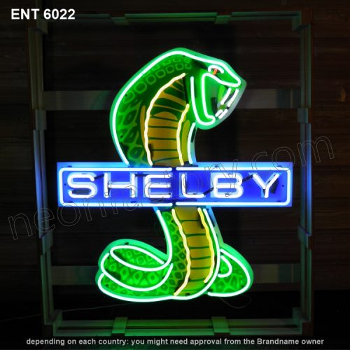 ENT 6022 Shelby snake neon sign automotive neonfactory motorcycle neon designs logo fifties