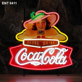 ENT 8411 Coca-Cola pause drink fifties neon sign neonfactory neon designs logo fifties
