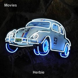 Movie Neon Herbie Film television theater logo name text bar restaurant mancave neonfactory stage