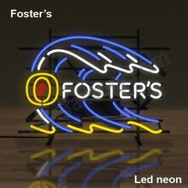 LED Neon Foster's Neonled brands brandmark logo name tekst bar restaurant mancave neonfactory