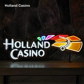 Custom Neon Holland Casino brands brandmark name tekst bar restaurant mancave neonfactory