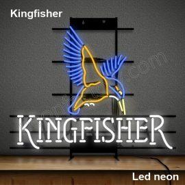 LED Neon Kingfisher Neonled brands brandmark logo name tekst bar restaurant mancave neonfactory