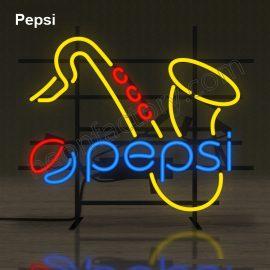 Custom Neon Pepsi brands brandmark name tekst bar restaurant mancave neonfactory