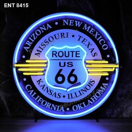 ENT 8415 Route 66 all States neon sign neonfactory neon designs logo fifties Signs USA