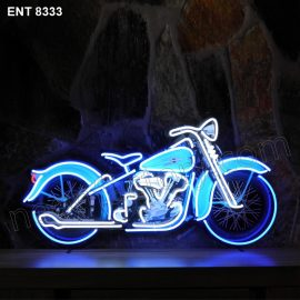 ENT 8333 Harley Davidson Knucklehead neon sign automotive neonfactory neon designs scooter logo fifties motorcycle brands