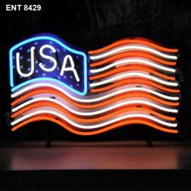 ENT 8429 USA flag neon