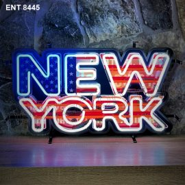 ENT 8445 New York neon sign neonfactory car designs logo fifties Signs USA bar decoration mancave vintage store