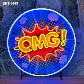ENT 8449 OMG Popart neon sign neonfactory car designs logo fifties Signs USA bar decoration mancave vintage store